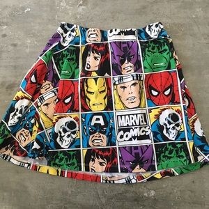 Marvel Comics skater skirt